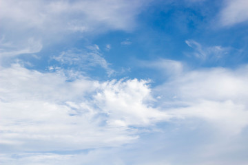cloudscape with blue sky in sunshine day.