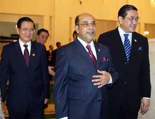 FOREIGN MINISTERS LEAVE AFTER OPENING OF 37TH ASEAN MINISTERIAL MEETING IN JAKARTA.