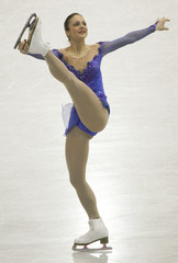 Switzerland's Meier performs during women's free skating programme at World Figure Skating Championships in Gothenburg