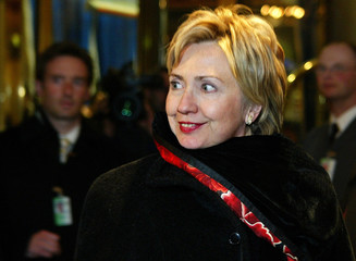 Hillary Clinton, Senator of New York arrives for the Conference on Security Policy in Munich.