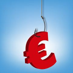 monnaie - Euro - économie - devise - hameçon