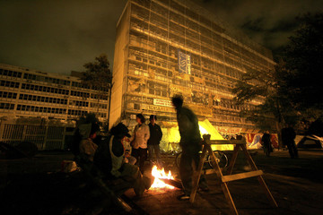 Students of the University of Sao Paulo continue their 21-day occupation of the dean's offices in Sao Paulo