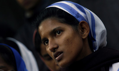A Christian nun attends a peace meeting in New Delhi