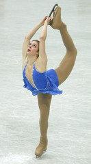 Wagner of the US performs during the women's short programme at the World Figure Skating Championships in Gothenburg