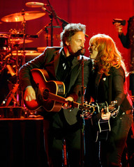 US musician Springsteen performs with wife Scialfa and Seeger Sessions Band at Palau Olimpic de Badalona near Barcelona