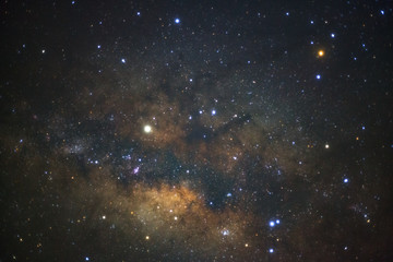 The center of the milky way galaxy,Long exposure photograph, with grain