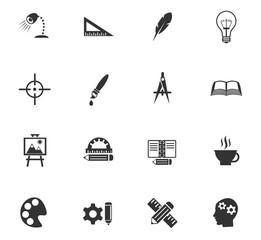 creative process icon set
