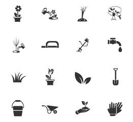 landscape design icon set