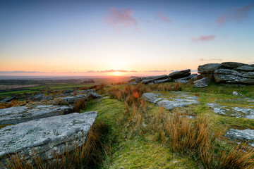 Wall Mural - April Sunset on Bodmin Moor