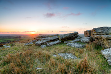 Wall Mural - Sunset over Bodmin Moor