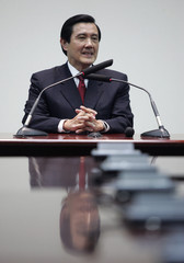 Taiwan's President-elect Ma Ying-jeou smiles during a news conference in Taipei