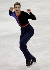 CANADIAN SKATER SANDHU DOES DANCE FOLLOWING ROUTINE AT WORLD CHAMPIONSHIPS.