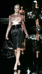A model displays a creation by Dolce & Gabbana as part of the Women's Fall-Winter 2007/2008 collections during Milan fashion week