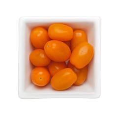 Orange colored cherry tomato