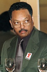 U.S. CIVIL RIGHTS LEADER JESSE JACKSON ADDRESSES THE BLACK BUSINESS COUNCIL IN JOHANNESBURG.