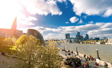 London Spring Scene