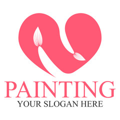 Painting logo template