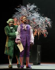 Singers Juan Antonio Sanabria and David Rubiera perform the opera Il tutore burlatore in Madrid