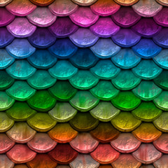 background of colorful fish scales macro texture
