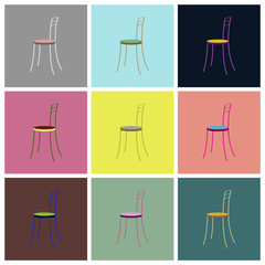 assembly flat icons chair