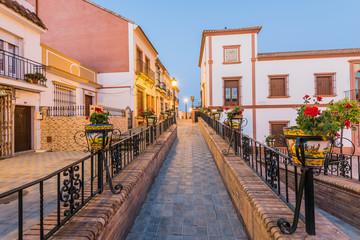 Beautiful city plaza in Palos de la Ffrontera,Huelva,Spain