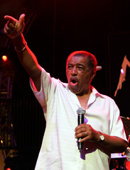 "Singer Ben E. King performs during the ""Hommage a Ahmet Ertegun"" show at the 40th Montreux Jazz festival in Montrex"