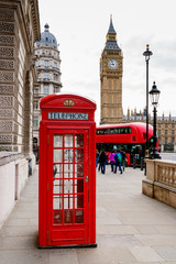 London Telephone Booth Stock Photo