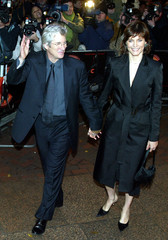 """RICHARD GERE AND HIS WIFE CAREY LOWELL ARRIVE AT THE UK PREMIER OF THESCREEN ADAPTATION OF """"CHICAGO""""."""