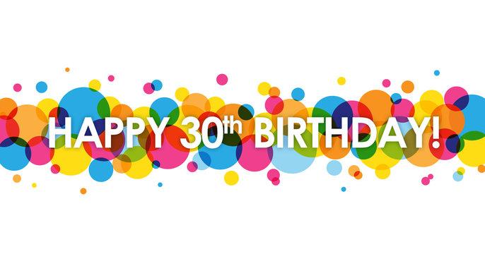 """""""HAPPY 30th BIRTHDAY"""" Card"""