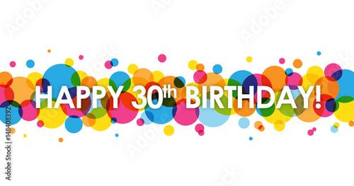 HAPPY 30th BIRTHDAY Card