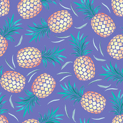 Tropisches Ananas Muster