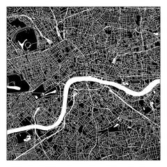 Black and white scheme of the London
