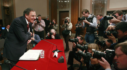 Leon Panetta testifies at a Senate select intelligence committee confirmation hearing in Washington
