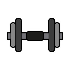 dumbbell gym icon image vector illustration design