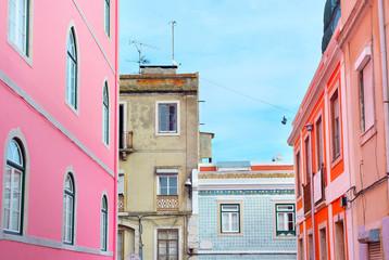 Lisbon colorful streets, Portugal