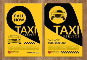 Taxi Service Flyer Layout 1
