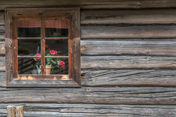 Old Wooden House With Window