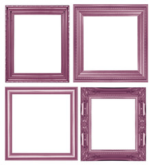 collection of Purple picture frame. Isolated