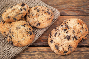 Papiers peints Biscuit heap of delicious oat cookies