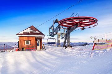 ski lift station