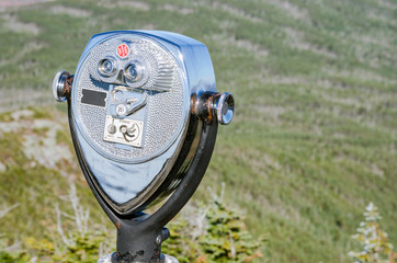 Coin Operated Binoculars on the top of Mountain.