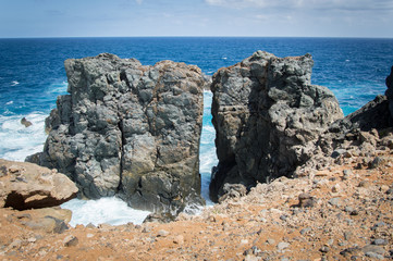 Cliffs of Las Palmas de Gran Canaria, Canary Islands, Spain, Atlantic Ocean - Stock Photo