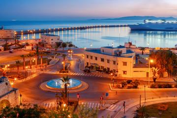 Heraklion. Sea port at sunrise.