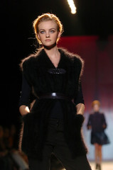 Model walks the runway during Zac Posen show at New York Fashion Week