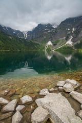Foto auf Gartenposter Gebirge Morskie Oko lake in Poland
