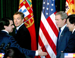 US PRESIDENT BUSH JOINS COALITION LEADERS IN SUMMIT ON AZORES.