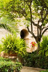 Palma de Mallorca Arab Baths garden patio.