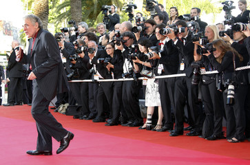 "US director Abel Ferrara arrives before the screening of film ""Synecdoche, New York"" in Cannes"