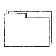 blurred silhouette image documents folder with sheet vector illustration