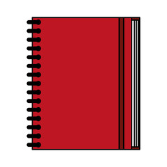 color image notebook spiral closed vector illustration